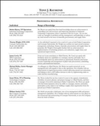job search references dossier