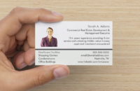 job search networking card front side