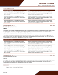 Autumn Peak Resume Template