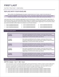 Purple Haze Resume Template