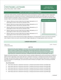 Seaspray Resume Template