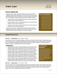 Pure Gold Resume Template