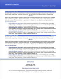 Flawless Resume Template