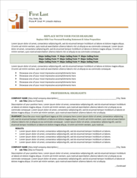 Career Booster Resume Template