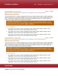 Ruby Flair Resume Template