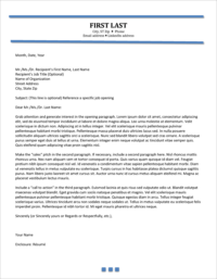 Career Propellant Cover Letter Template