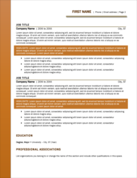 Harvest Works Resume Template Page 2
