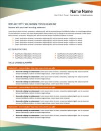 Pivot Resume Template Page 1