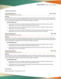 Pivot Resume Template Page 2