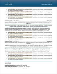 Captivating Resume Template Page 2