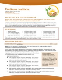 Agricultural Edge Resume Page 1 1
