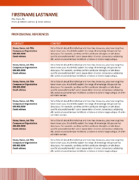 Career Optics References