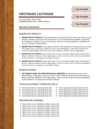 Constructionworks Resume Addendum