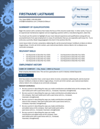 Gearworks Resume Page 1
