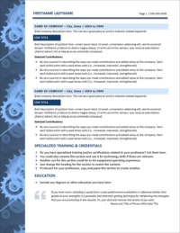 Gearworks Resume Page 2