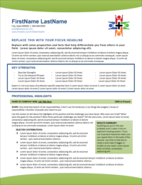 Healthcare Edge Resume Page 1
