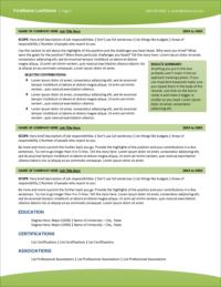 Healthcare Edge Resume Page 2