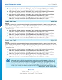 New Horizons Resume Page 2