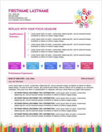 Early Childhood Education Edge Resume Page 1