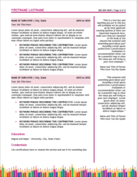 Early Childhood Education Edge Resume Page 2