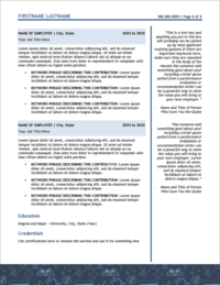 Secondary Education Edge Resume Page 2